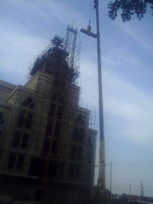 河南省安阳市龙安区申家岗教堂被强拆十字架 4