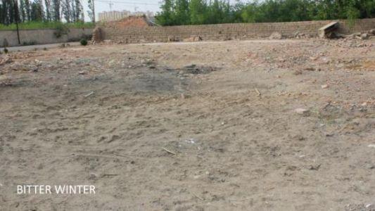 图二:位于伊州区黄田农场先锋队的清真寺已被夷为平地