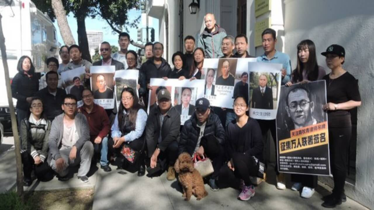 旧金山华人呛中领馆 声援维权律师