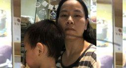 2018年5月23日,被逼迁的张唯楚与3岁的儿子(图)现时在另一维权人士家里暂住。(张维楚独家提供)