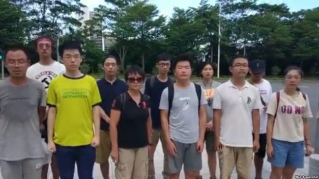 深圳佳士工人抗争获到场民众支持及高校学生联署声援