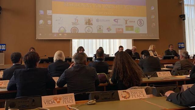 国际和平日活动在联合国日内瓦办事处举行:受迫害的新兴宗教为世界和谐与正义付诸努力
