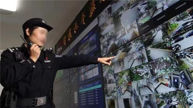 上海长宁区一智能安防小区的监控画面