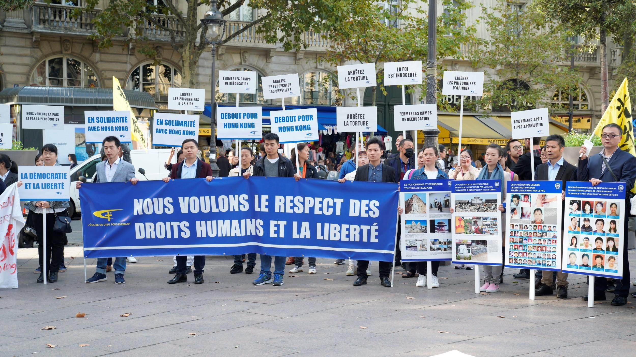 全能神教会基督徒参加示威活动