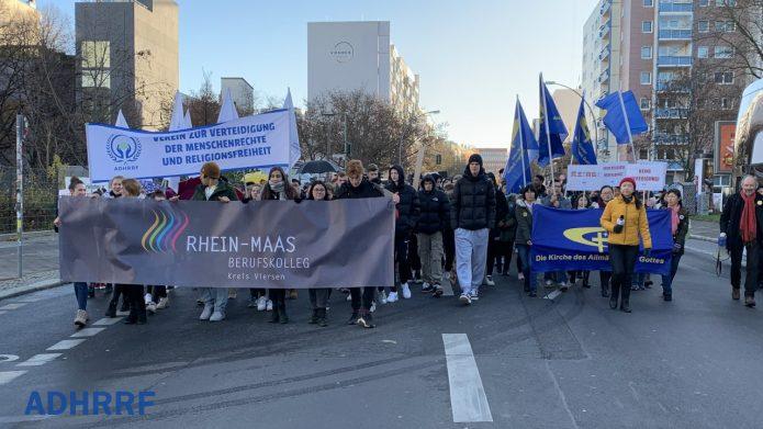 德国人权日游行:与香港在一起!捍卫人权共抗中共暴政