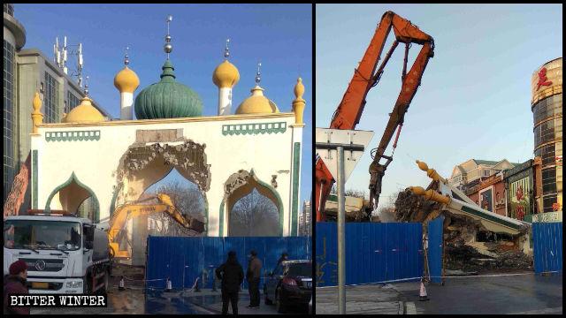 """毁伊斯兰文化:北京拆著名清真街建筑 吉林千家商铺""""杜瓦""""消失"""