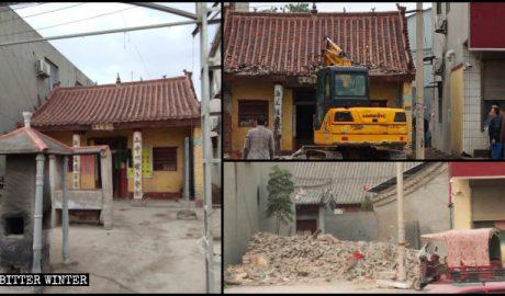 许昌白衣堂道家寺庙被拆除