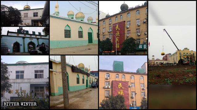 信阳市四处清真寺圆顶和星月标志被政府拆除