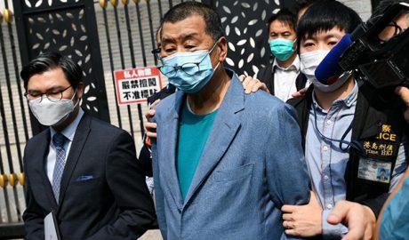 壹传媒集团创办人黎智英被警方从何文田住所带走