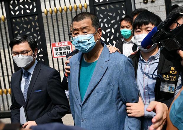香港警方大围捕15名民主派人士 包括李柱铭黎智英等人