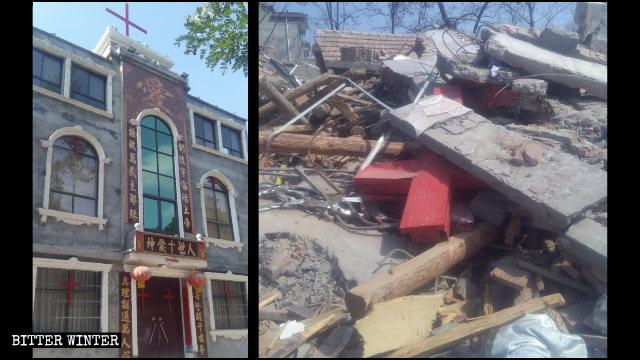 武汉肺炎期间中共再拆多座教堂 七旬教堂负责人遭殴打骨折