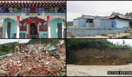 延川县的两处寺庙被拆