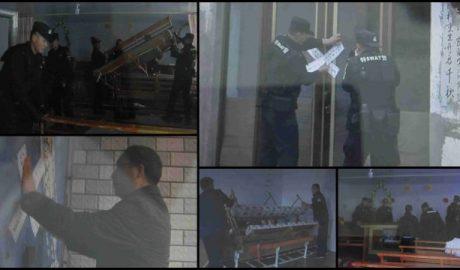 政府人员清理并查封内蒙古当地教堂