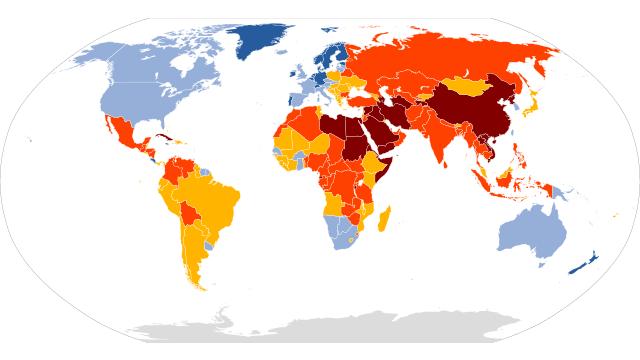 2020年全球新闻自由新排行榜:挪威居首,中朝等四国垫底