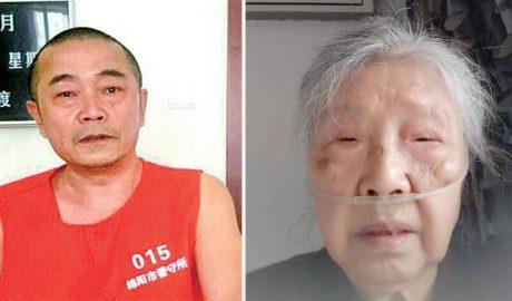 """左图:被中国当局以""""泄密""""罪名判处12年监禁的""""六四天网""""负责人黄琦,被羁押以来一直被禁止与外界接触。右图:87岁、身患多种严重疾病的蒲文清(图)形容自己来日无多。"""