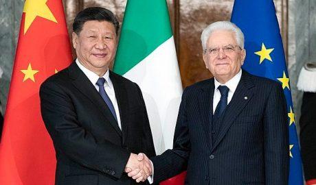 习近平拜访意大利总统塞尔吉奥·马塔雷拉