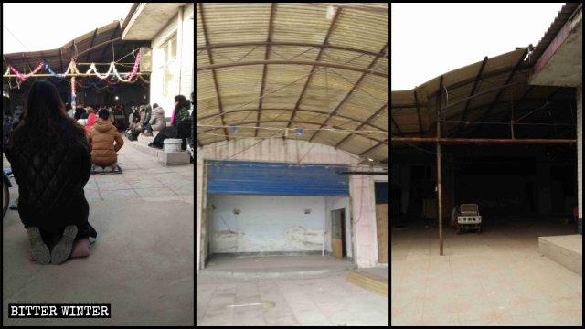 藁城区一地下天主教聚会点的设施全部清空