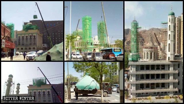 兰州市多处清真寺圆顶及星月标志被拆除或整改