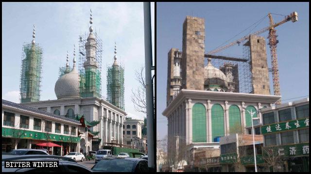 整改中的清真铁家寺和柏家庄清真寺