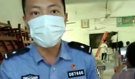 江西浮梁县蛟潭镇一家庭教会被警察取缔。