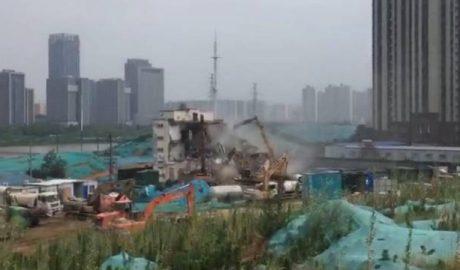 郑州孙庄基督教教会被强拆。