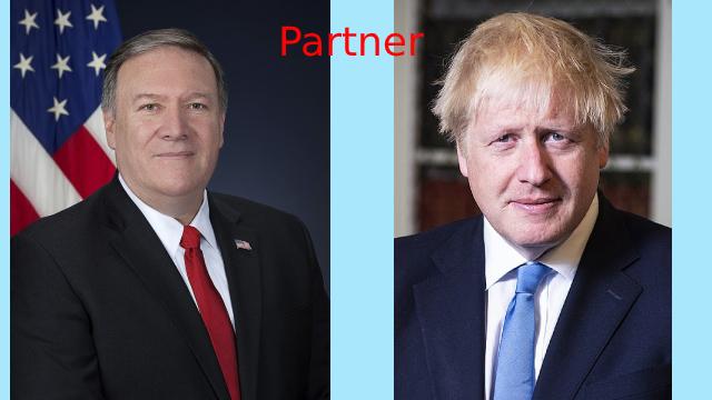 蓬佩奥会见约翰逊,协调美英两国对华立场