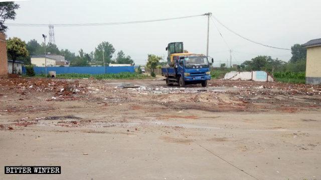 6月19日,宋窑村一三自聚会点被强拆
