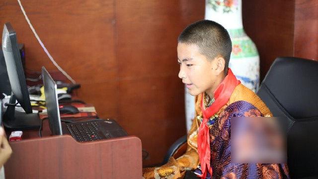 """浐灞第一中学一藏族学生连线和""""西安爸妈""""交流"""