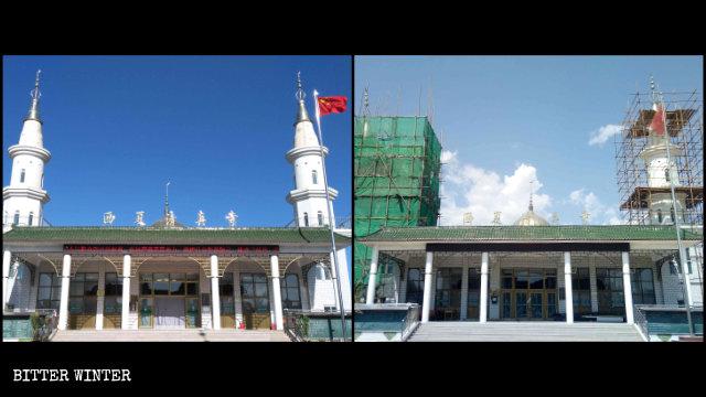 西夏清真寺两个宣礼塔准备被拆