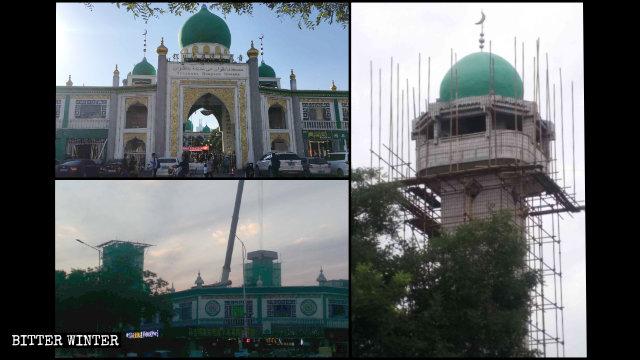 6月南关清真大寺圆顶被拆除