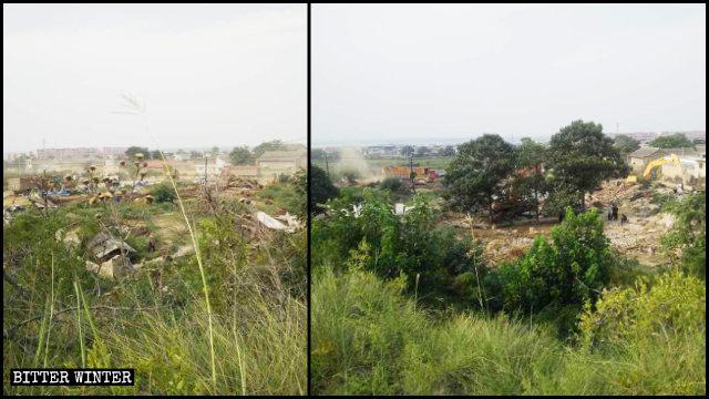 20个宣教士墓碑以及参观信徒休息的房屋全部被拆除