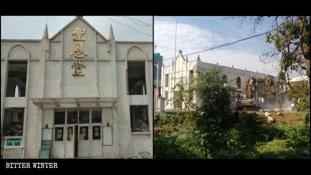 9月洛阳市圣恩堂被拆毁