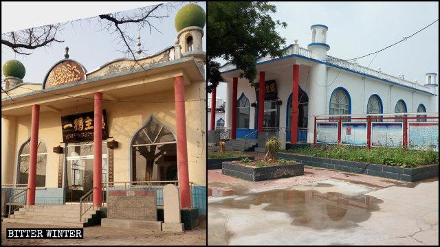 清真寺外墙被刷白