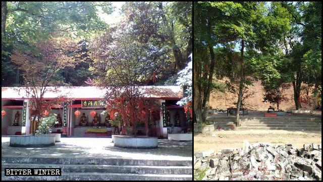 宝月禅寺被夷为平地