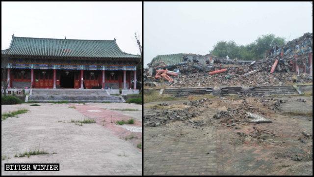 莲花源寺被拆成废墟