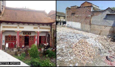 10月20日,乌龙寺被拆