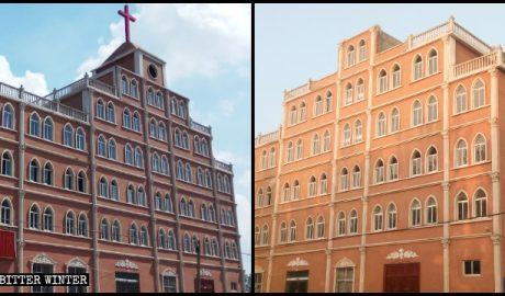 赵集教堂所在的顶楼被拆