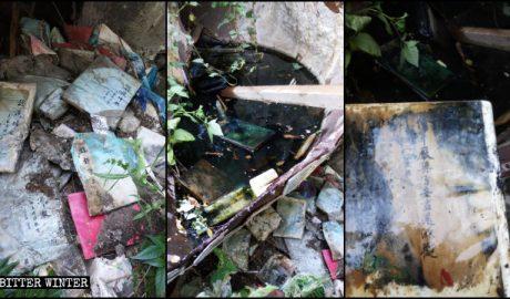 山西省太原市一处寺庙的经书被政府人员损毁扔进垃圾堆