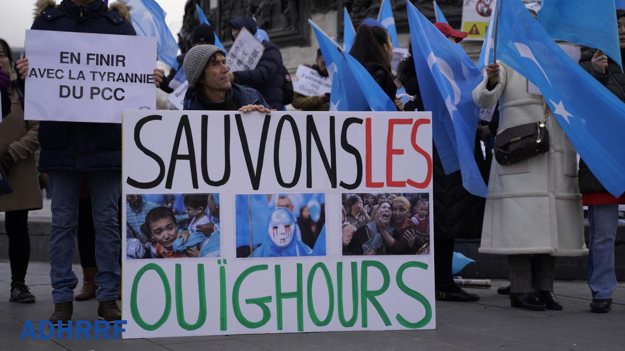 海外维吾尔人及其他团体抗议中共迫害